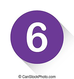 Purple Icon Isolated on a White Background - 6