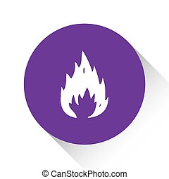 Purple Icon Isolated on a White Background - Fire