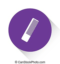Purple Icon Isolated on a White Background - Hairbrush - A...