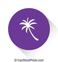 Purple Icon Isolated on a White Background - Palmtree - A...