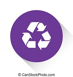 Purple Icon Isolated on a White Background - Recycle