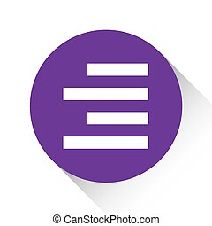 Purple Icon Isolated on a White Background - Right Align - A...