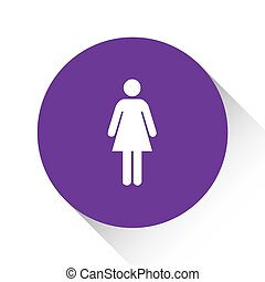 Purple Icon Isolated on a White Background - Woman