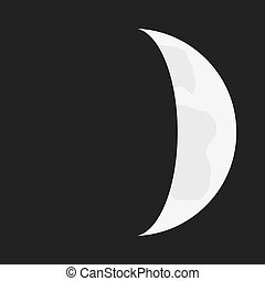 Flat Lunar phases - Illustrated Flat Lunar phases