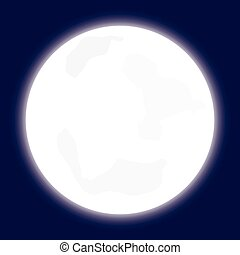 Isolated Illustration of the moon