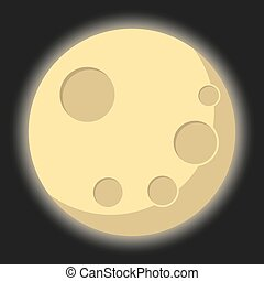 Isolated Illustration of the moon - An Isolated Illustration...