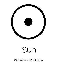 Planet Symbols - Sun - Illustrated Planet Symbols - Sun