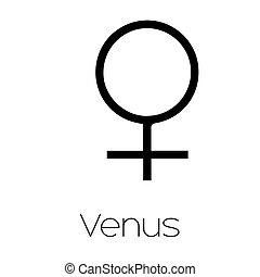 Planet Symbols - Venus - Illustrated Planet Symbols - Venus