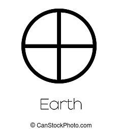 Planet Symbols - Earth - Illustrated Planet Symbols - Earth