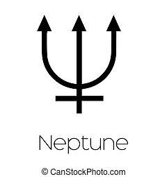Planet Symbols - Neptune - Illustrated Planet Symbols -...
