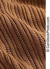 Brown knit fabric