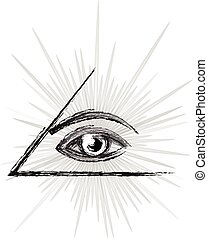 Eye of providence sketch - Masonic symbol - All seeing eye...