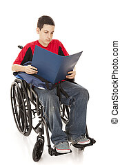 Disabled Student Reading