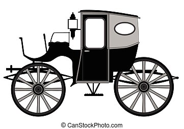 Old Style Carriage - A typical old style Victorian or...