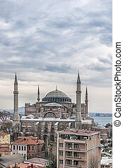 Hagia Sophia Elevated View - An image of the impressive...
