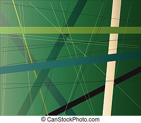 Foliage Criss Cross - A green foliage background with green...