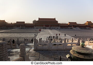 Gate of Supreme Harmony. Forbidden City. Beijing. China.
