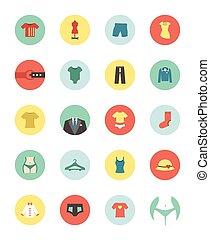 Clothing circle icon