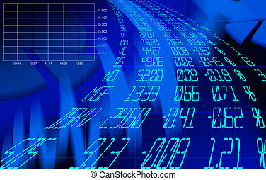 finance - A Finance Spreadsheet Tech Graph Art Background