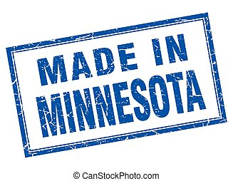 Minnesota blue square grunge made in stamp