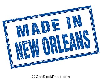 New Orleans blue square grunge made in stamp