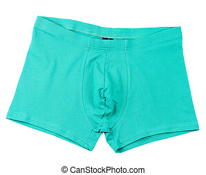 Boxer briefs isolated on a white - Green men's Boxer briefs...
