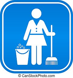 Cleaning service icon - Cleaning service vector icon