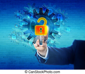 Unlocking A Virtual Lock In A Security Mechanism - Arm of a...