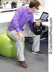 exercise in office