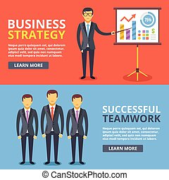 Business strategy, successful team