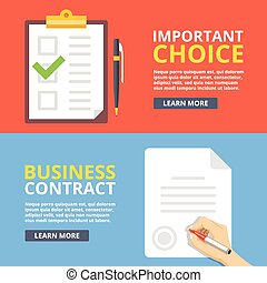 Important choice, business contract