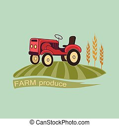 Farm logo and emblem - Vector retro farm fresh logotype...