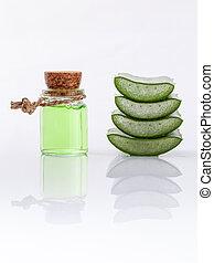 Aloe Vera slice natural spas ingredients for skin care...
