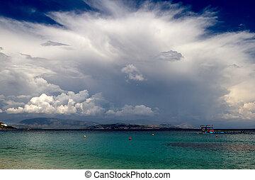 Approaching storm, Corfu, Greece
