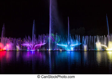Europe's largest floating singing fountain, built on the...