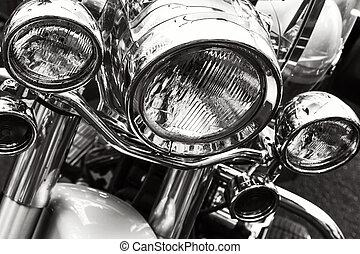Motorcycle headlights.