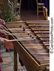 Marimba Players - Marimba players in Chiapas, Mexico playing...