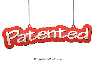 red background patented - This is red background patented