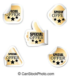 set five stickers - special offer