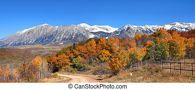Kebler pass - Autumn landscape at Kebler pass in Colorado