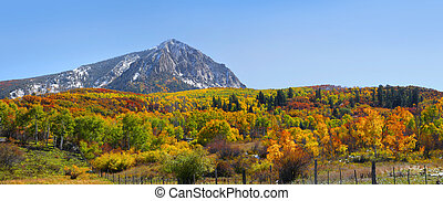 Marcelina mountain landscape in Colorado in autumn time