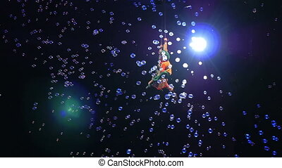 Child Aerial Performers Spinning in Air - MOSCOW, RUSSIA -...