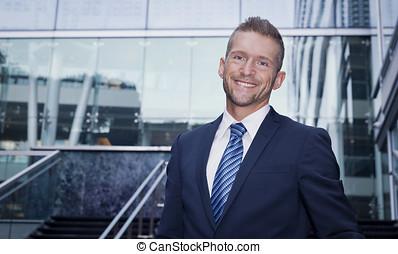 Mature Businessman Smiling - Tie, Fashion Model, Park - Man...