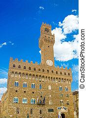 The Old Palace (Palazzo Vecchio or Palazzo della Signoria),...