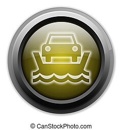 Icon, Button, Pictogram Vehicle Ferry