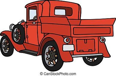 Vintage red pick-up