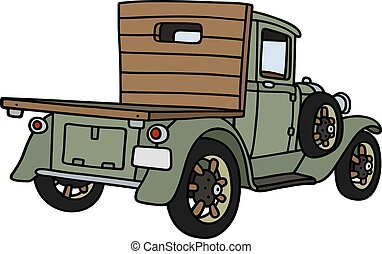 Vintage lorry - Hand drawing of a vintage lorry truck - not...