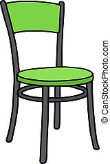 Black and green chair
