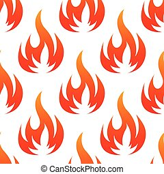 Red and orange fire flames seamless pattern