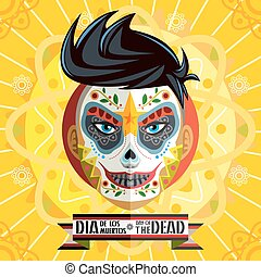 Dia De Los Muertos Day Of The Dead - Face Painting Of...